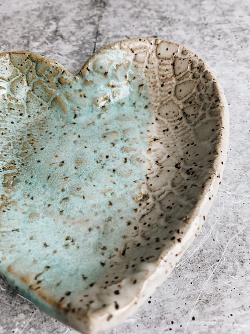 ocean and sand heart dish