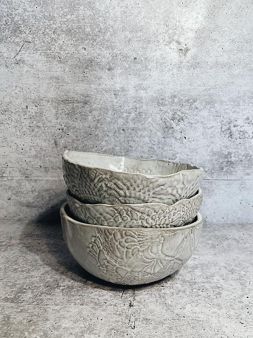 Simple white bowls