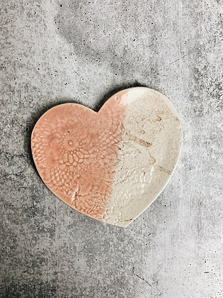 blush heart plate