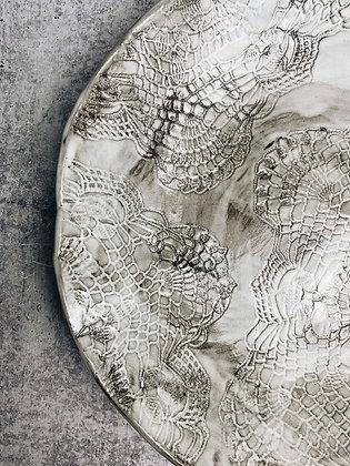white wash lace fruit bowl