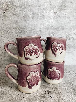 purple mini mugs