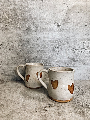 simple heart mug - small