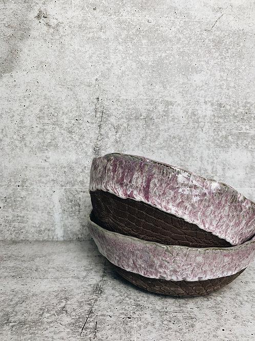 lavender mist lace bowl