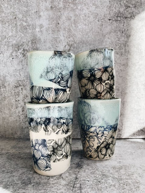 Mixed bloom tumbler