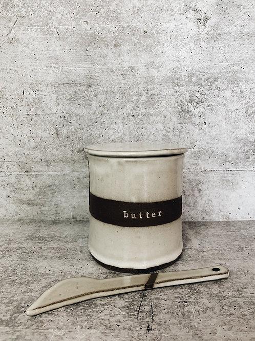 white strip butter bell
