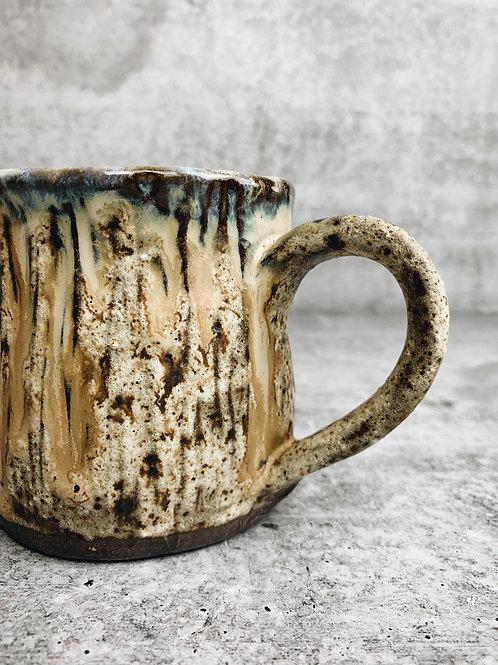 birch carved mug