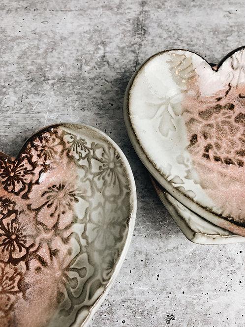 pretty in pink heart dish