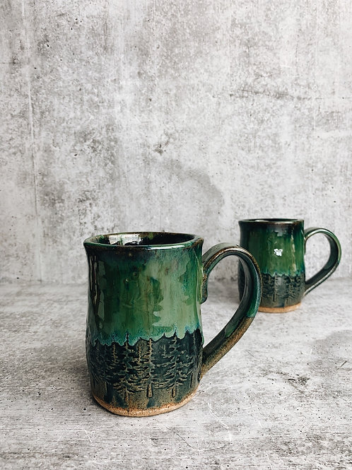 northern lights speckle mug