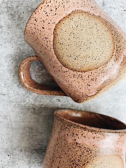 simple pink circle mug