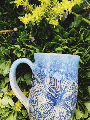 blue galaxy decal mug