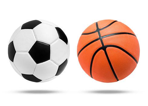 Soccer ball and Basketball ball on isolated. .jpg
