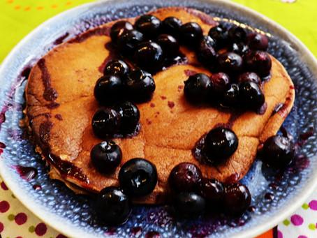 Blaubeer-Bananen-Pancakes