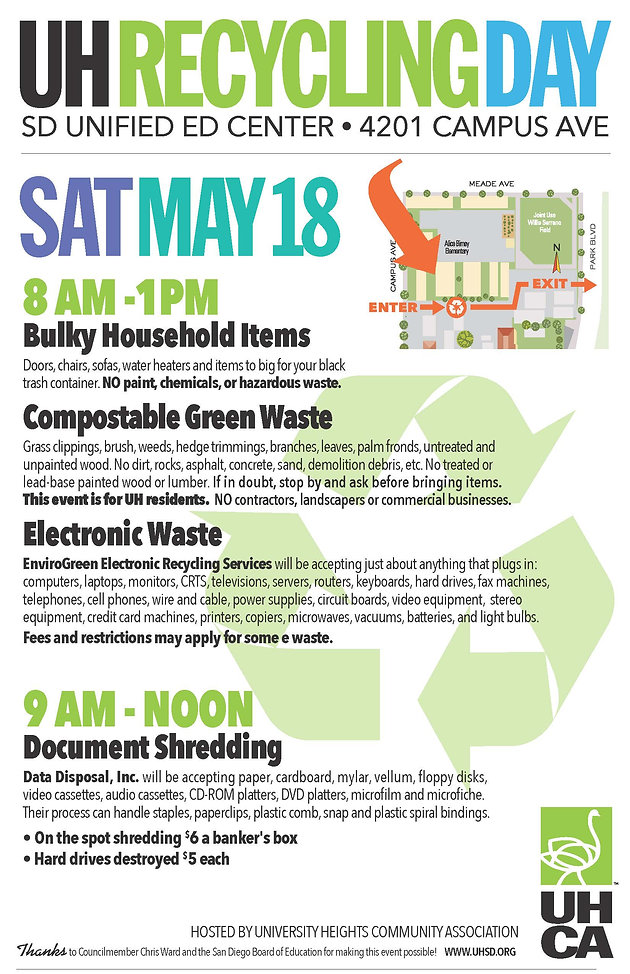 Don't Miss Recycling Day on May 28!   uhca