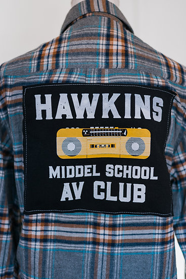 HAWKINS AV CLUB FLANNEL