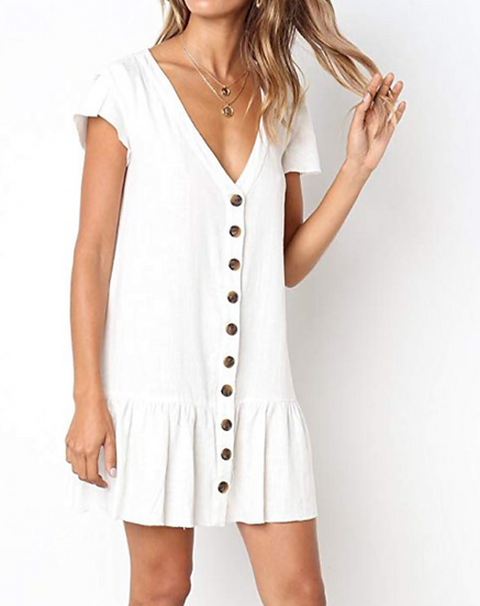 BUTTON UP SKATER DRESS