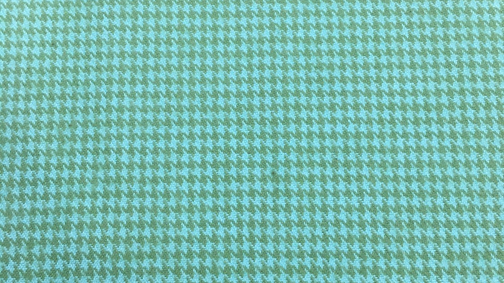 Flannel Green on Green Houndstooth