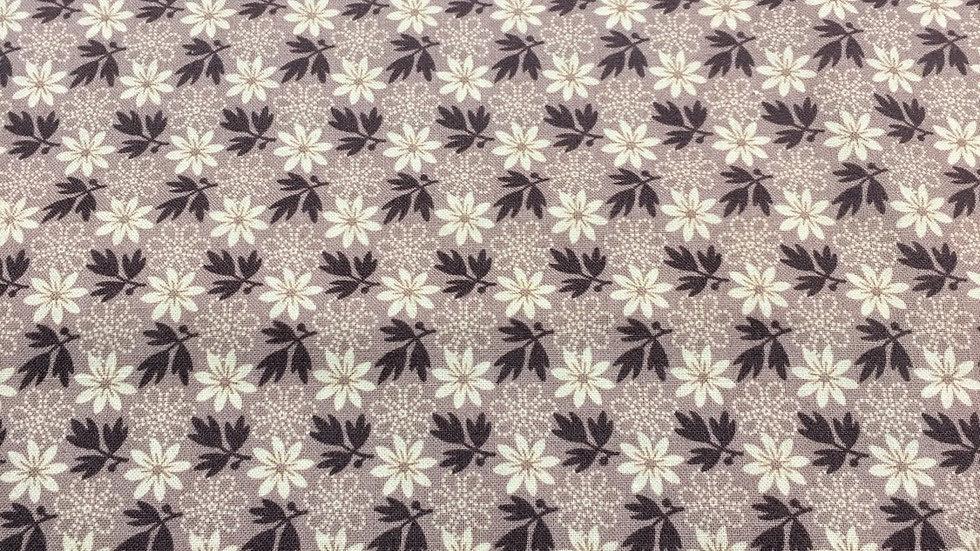 100% Cotton  Brown Floral