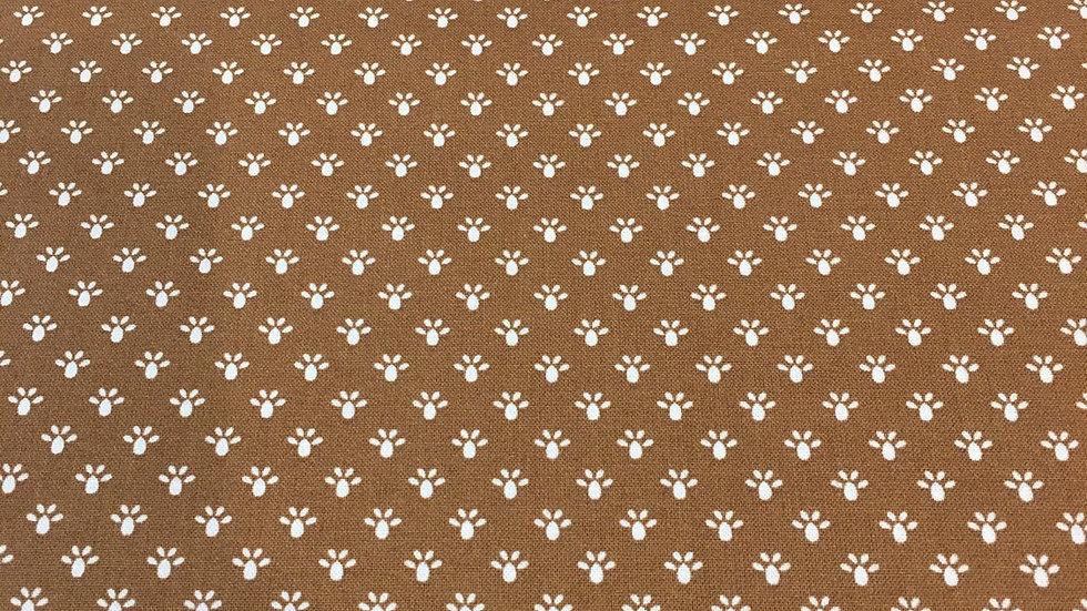 100% Cotton Brown Mini Dot