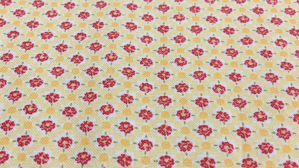 100% Cotton Yellow Floral