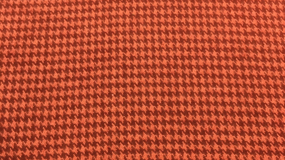 Flannel Rust Houndstooth