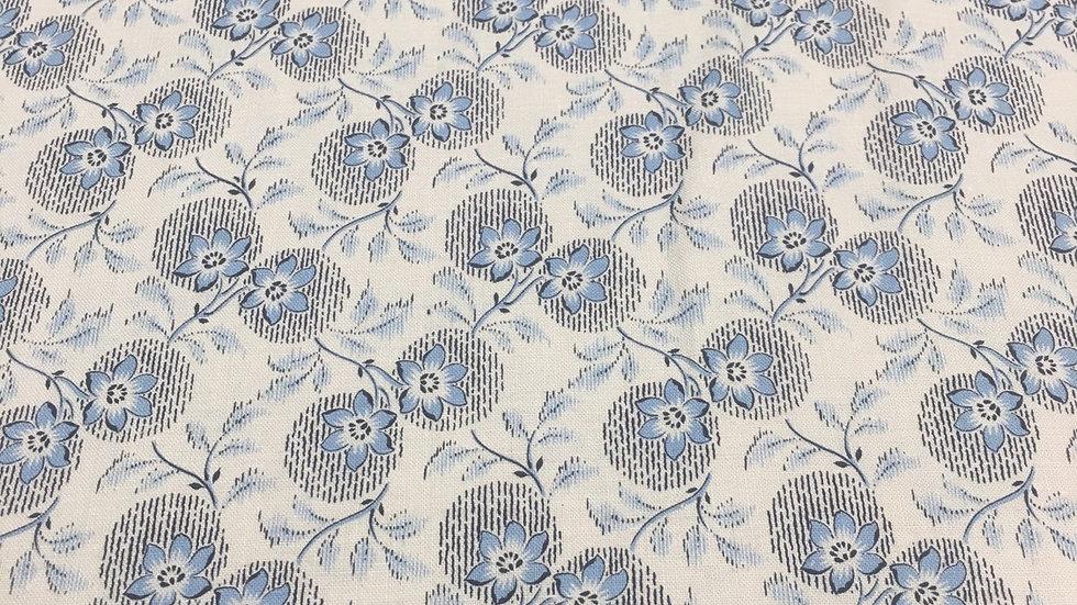 100% Cotton Colony Blue Floral