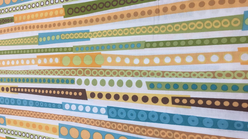 100% Cotton Robert Kaufman Wonky Stripe
