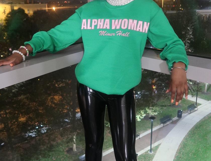 Green Alpha Woman Sweatshirt