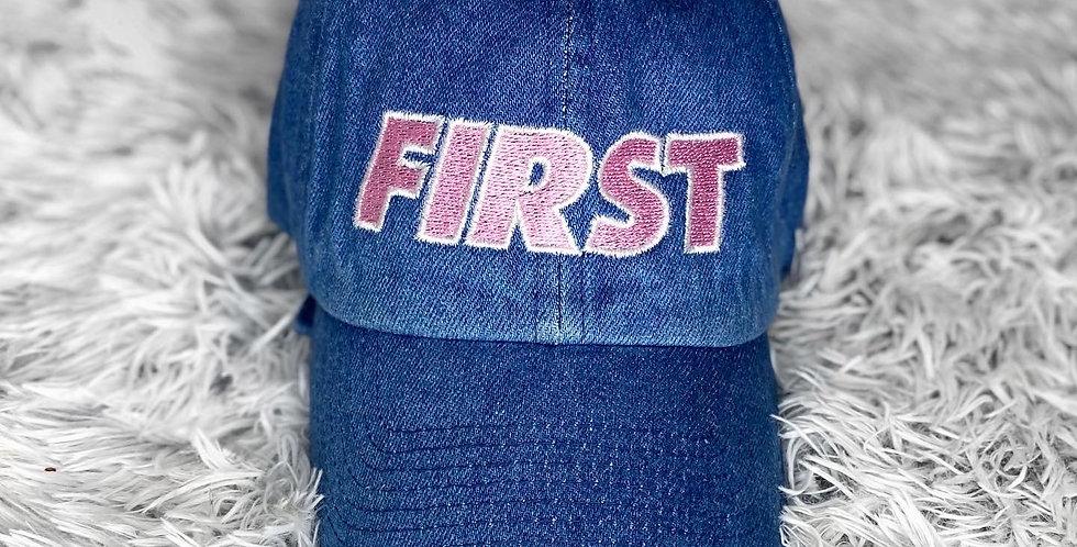 Denim 'First' Hat