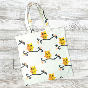 'Owls on Branches' Tote Bag