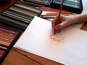 Sketching a guinea pig
