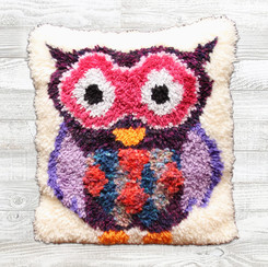 Purple Owl Cushion