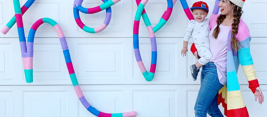 Pool Noodle Letter Backdrop