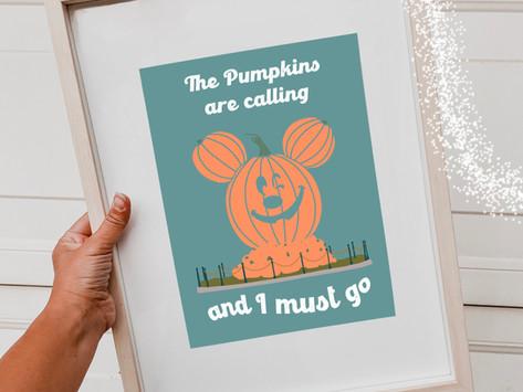 Pumpkin Mickey Free Printable