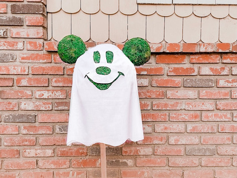 Mickey Ghost Topiary