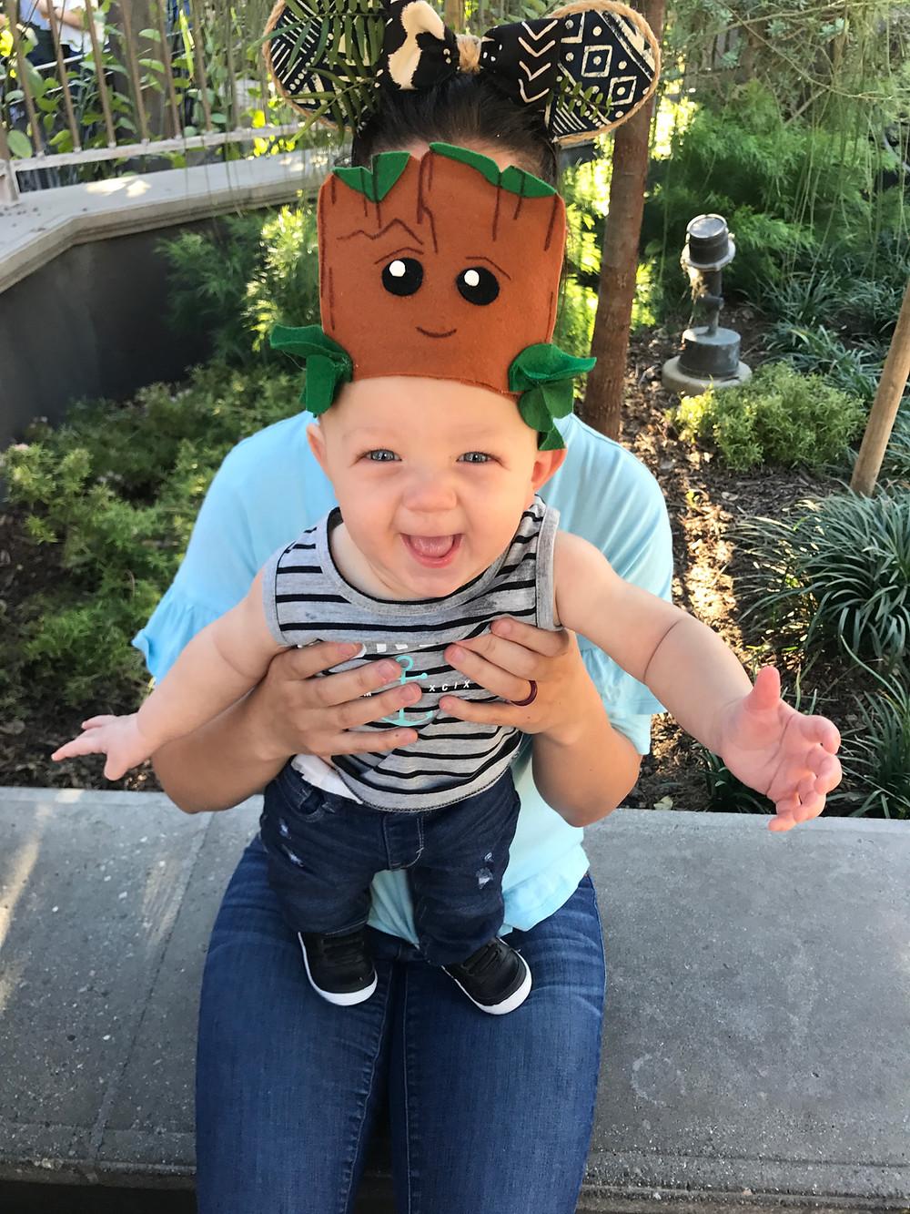 Toddler Mickey Ears Baby Groot DIY