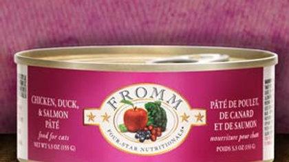 Fromm 4* Paté chat - Poulet, Canard & Saumon 5.5 oz