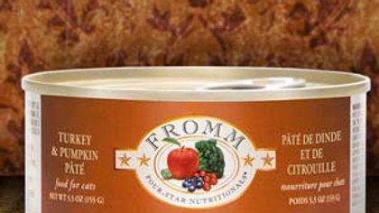 Fromm 4* Paté chat - Dinde & Citrouille 5.5 oz