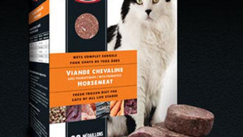 Karnivor -Pour chats- Cheval avec céréales /60 médaillons/3.5kg