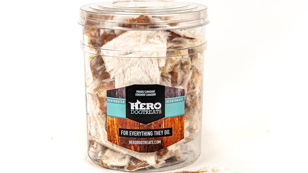 Hero Dog treats - Couennes de lapin déshydratées (unité)