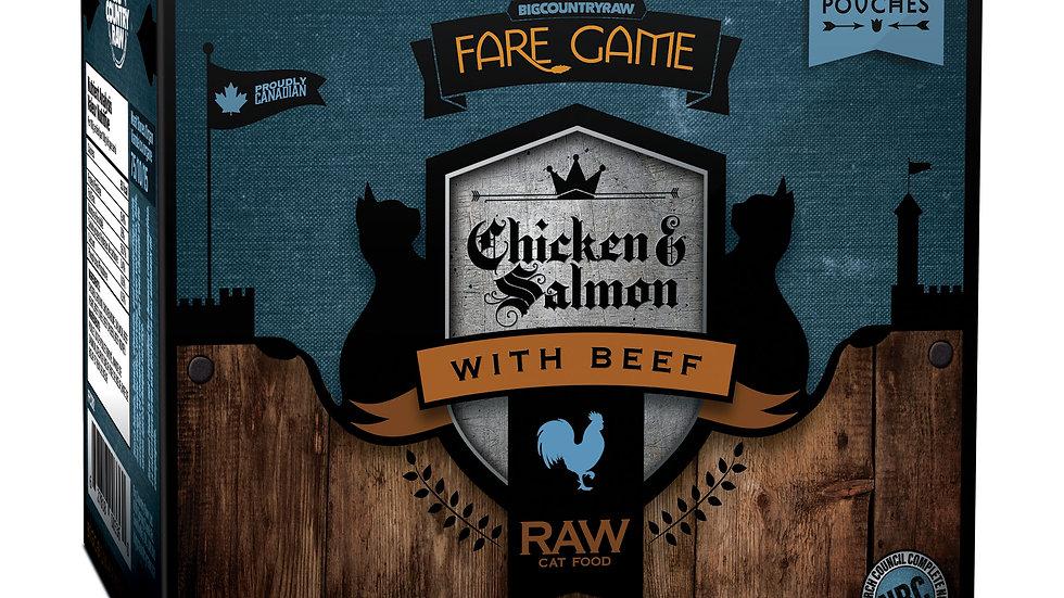 BCR - Fare Game  formules pour chats, poulet,saumon et boeuf(4 x 1/2lbs)