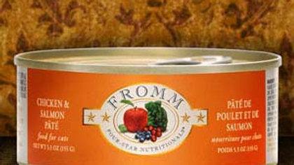 Fromm 4* Paté chat - Poulet & Saumon 5.5 oz