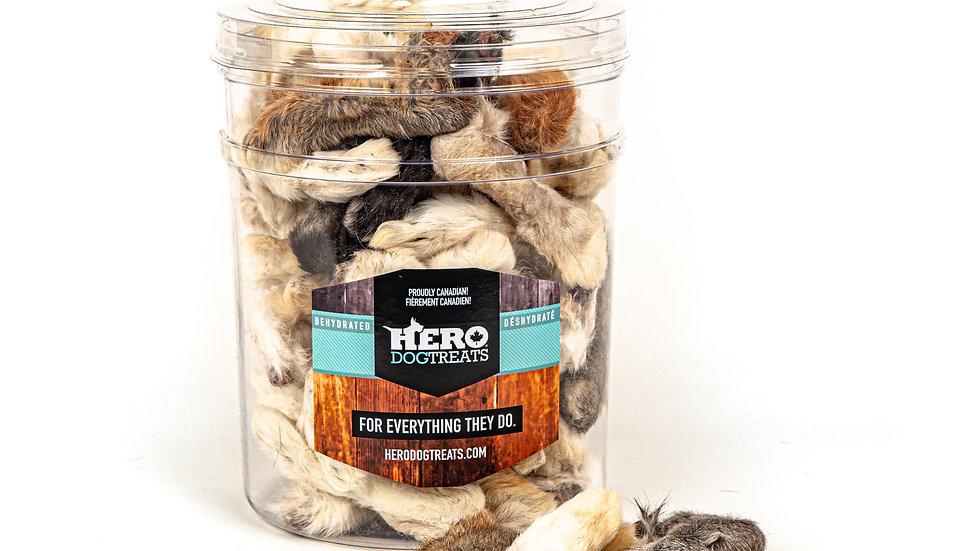 Hero Dog treats - Pattes de lapin déshydratées (unité)