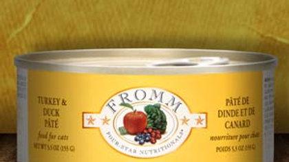 Fromm 4* Paté chat - Dinde & Canard 5.5 oz