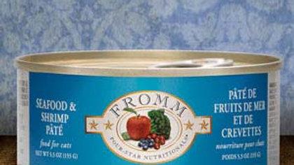 Fromm 4* Paté chat - Fruits de mer & Crevettes 5.5 oz
