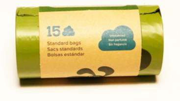 Earth Rated, Sacs Biodégradables, 15 sacs réfil