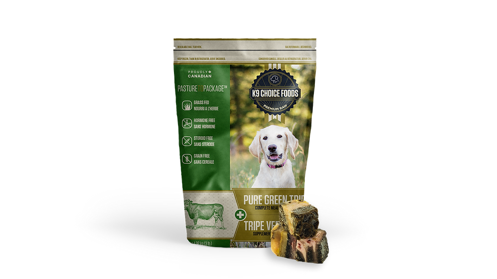 K9 Choice Foods - Pure green tripe