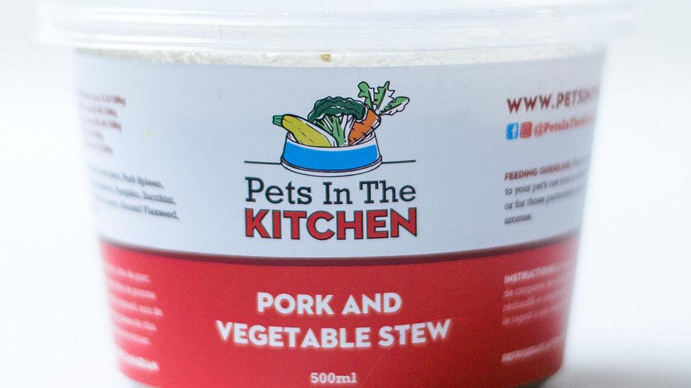 BCR- Pets in the kitchen, Ragoût de porc et légumes, 454g