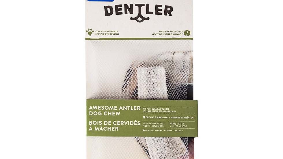 Dentler - Bois de cervidé split, naturel (large)