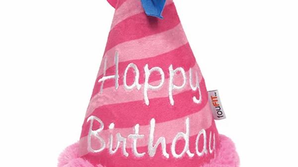 FFD - Peluche chapeau de fête rose