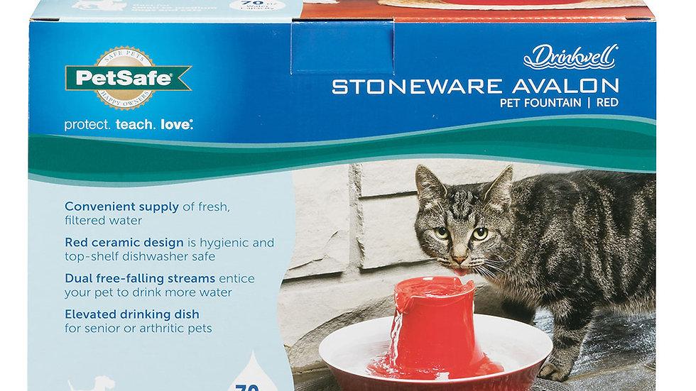 Pet Safe - Fontaine d'eau Avalon Rouge 2L